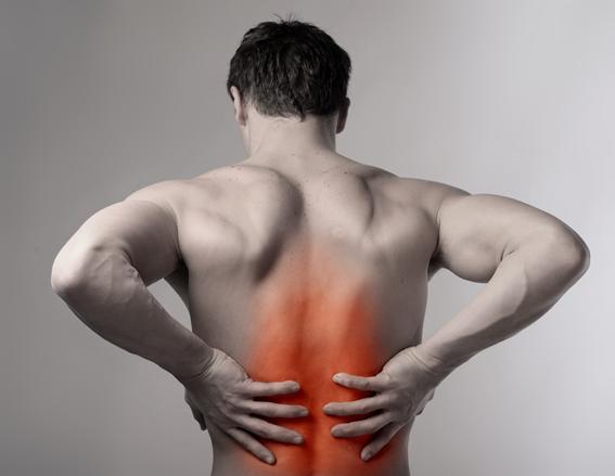 Dor nas costas no meio